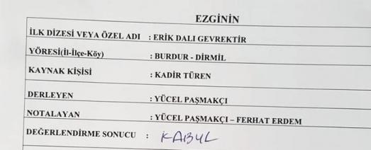 https://ikizkare.com/Erik Dalı Gevrektir Burdur Teke Yöresi Türküsü