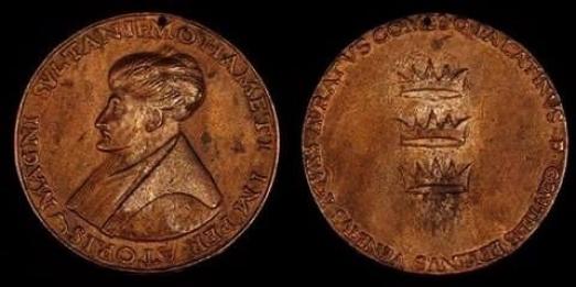https://ikizkare.com/Fatih Sultan Mehmet Han adına Floransa dükü Lorenzo de' Medici tarafından bastırılan madalyon